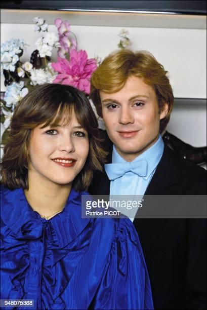 Sophie Marceau and Francois Valery after the film La boum II 1982