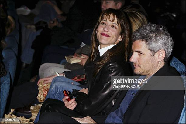 Sophie Marceau and her boyfriend in Paris France on February 10 2004