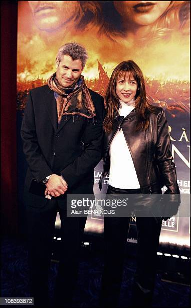 Sophie Marceau and her boyfriend Jim Lemley in Paris France on February 10 2004
