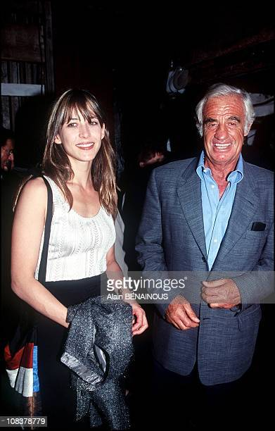 Sophie Marceau and Jean Paul Belmondo in France on September 11 2000