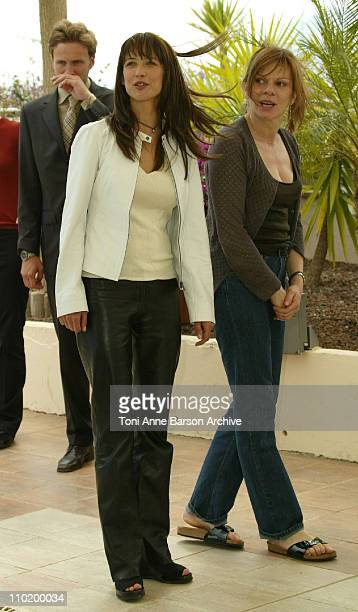 Sophie Marceau and Laure Dutilleul during 2004 Cannes Film Festival 'A Ce Soir Nelly' Photocall at Palais Du Festival in Cannes France
