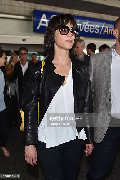 Sophie Marceau arrives at Nice Airport during the 68th annual Cannes Film Festival on May 12 2015 in Cannes France
