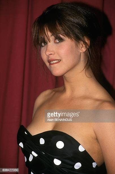 Sophie Marceau at the French theater night awards the 6th Nuit des Molières in Paris France on April 6 1992