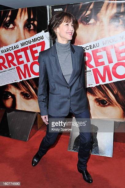 Sophie Marceau attends the 'Arretez Moi' Paris Premiere at the UGC Cine Cite des Halles on February 5 2013 in Paris France
