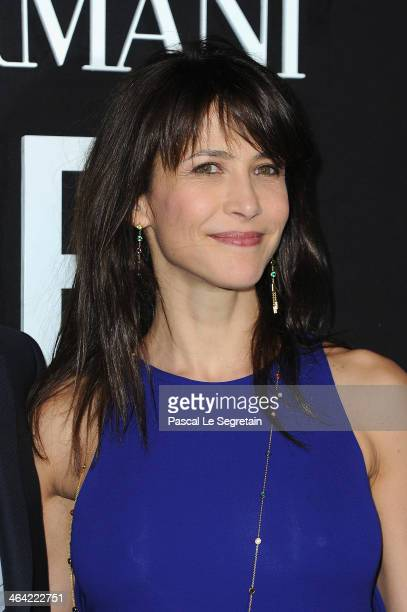 Sophie Marceau attends the Giorgio Armani Prive show as part of Paris Fashion Week Haute Couture Spring/Summer 2014 on January 21, 2014 in Paris,...