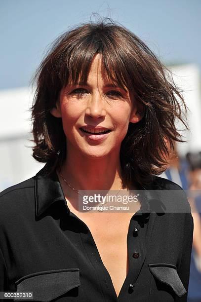 Sophie Marceau attends the Golden Lion For Jean Paul Belmondo followed by the 'Le Voleur' Premiere during the 73rd Venice Film Festival at Sala...