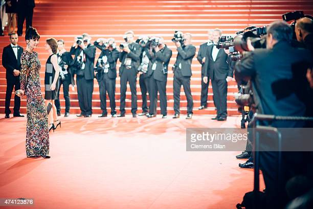 Sophie Marceau attends the Premiere of 'Shan He Gu Ran' during the 68th annual Cannes Film Festival on May 20 2015 in Cannes France