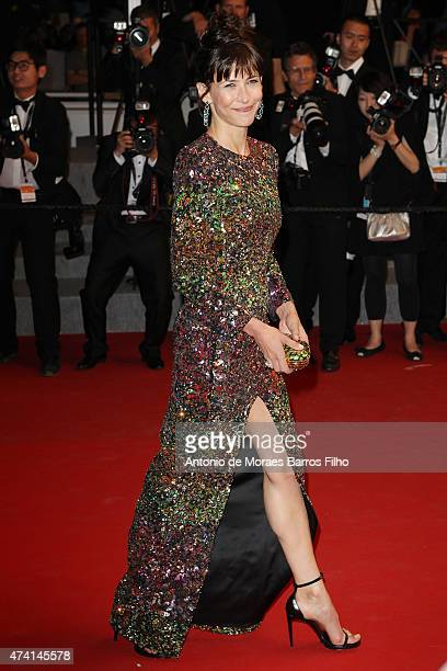 Sophie Marceau attends the 'Shan He Gu Ren' premiere during the 68th annual Cannes Film Festival on May 20 2015 in Cannes France