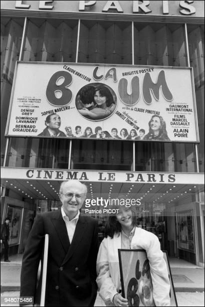 Sophie Marceau et Vladimir Cosma à la sortie du film La Boum de claude Pinoteau