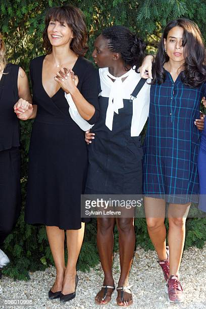 Sophie Marceau Eye Haidara and Nailia Harzoune attend 9th Angouleme FrenchSpeaking Film Festival on August 26 2016 in Angouleme France