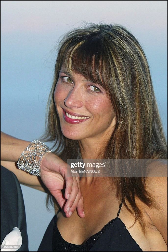 French Actress Sophie Marceau And Prince Albert Of Monaco Attend Formal Evening To Launch The New 'Frisson' Collection From Chaumet In Monaco On August 02, 2003. : News Photo