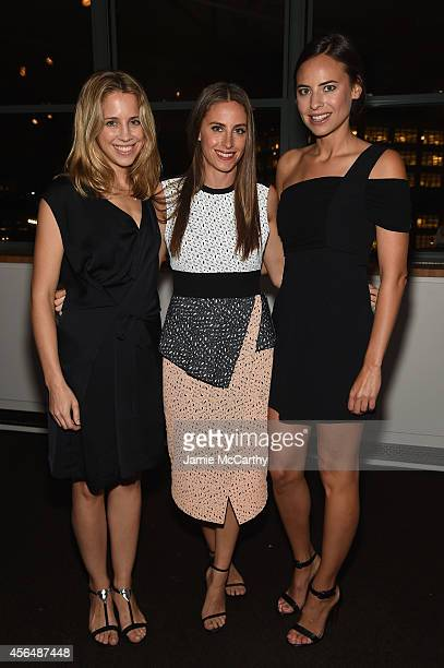 Sophie McNally Alexi Ashe Meyers and Ariel Ashe attend The Headstrong Project Words Of War Benefit at Tribeca 360 on October 1 2014 in New York City
