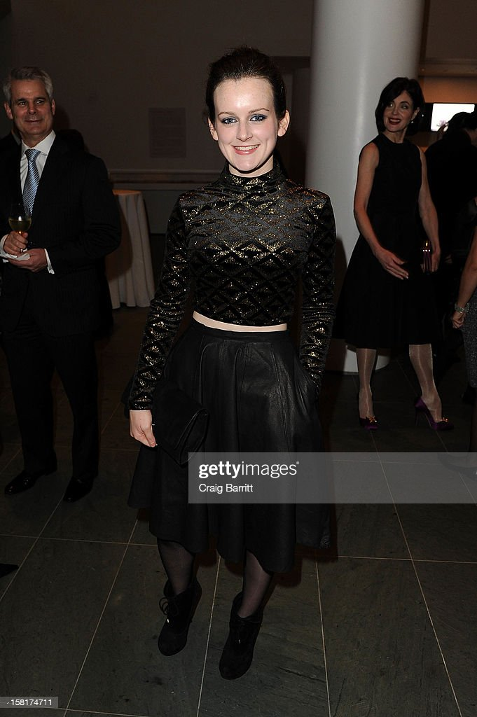Sophie McShera attends an evening with the cast and producers of PBS Masterpiece series 'Downton Abbey' hosted by Ralph Lauren & Graydon Carter on December 10, 2012 in New York City.