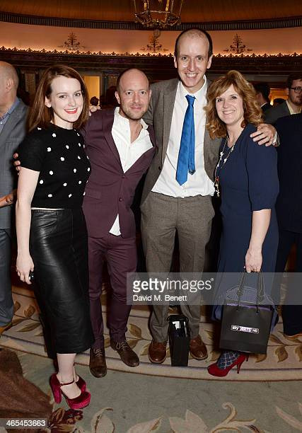 Sophie McShera, John Tiffany and Jack Thorne, winners of the South Bank Sky Arts award for Theatre, and Siobhan Finneran attend the South Bank Sky...