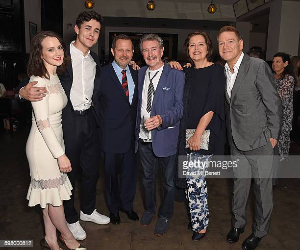 Sophie McShera Jonah HauerKing Rob Ashford Gawn Grainger Greta Scacchi and Kenneth Branagh attend the press night party for The Entertainer the final...