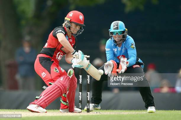 Sophie Molineux of Renegades plays a shot during the Women's Big Bash League match between the Adelaide Strikers and Melbourne Renegades at Eastern...