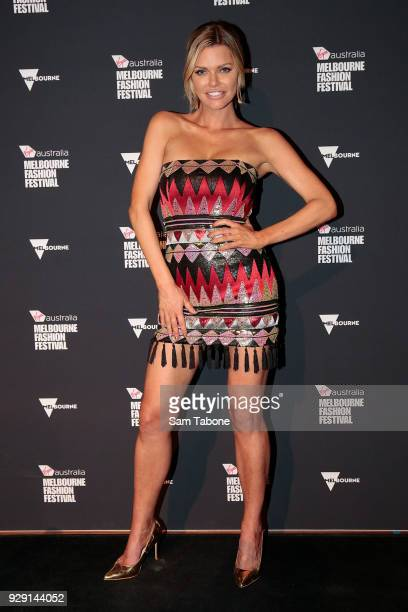 Sophie Monk arrives ahead of the VAMFF 2018 Virgin Australila Grand Showcase presented by marie claire on March 8 2018 in Melbourne Australia