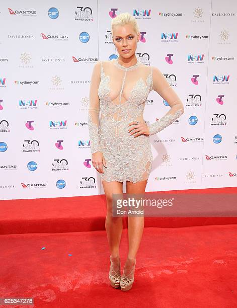Sophie Monk arrives for the 30th Annual ARIA Awards 2016 at The Star on November 23 2016 in Sydney Australia