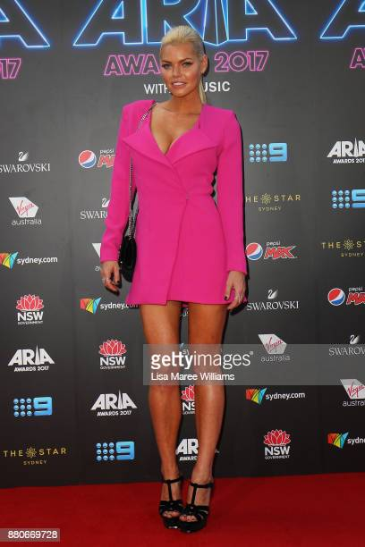 Sophie Monk arrives for the 31st Annual ARIA Awards 2017 at The Star on November 28 2017 in Sydney Australia