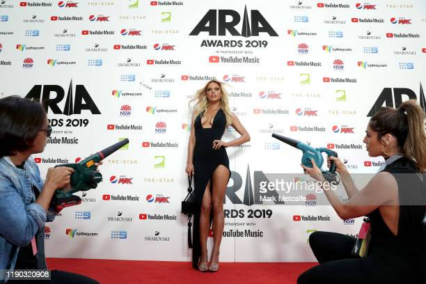 Sophie Monk arrives for the 33rd Annual ARIA Awards 2019 at The Star on November 27 2019 in Sydney Australia