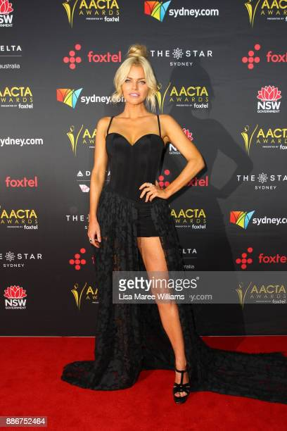 Sophie Monk attends the 7th AACTA Awards Presented by Foxtel | Ceremony at The Star on December 6 2017 in Sydney Australia