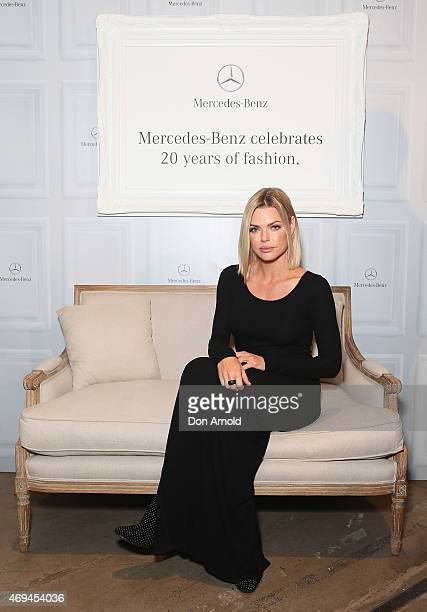Sophie Monk attends the MercedesBenz Presents Dinner following the Ellery Show at MercedesBenz Fashion Week Australia 2015 at Carriageworks on April...