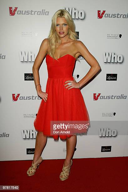 Sophie Monk attends Who Magazine's 'Sexiest People' Issue Party at Australia Square on November 12 2009 in Sydney Australia