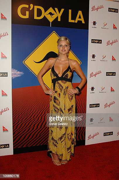 Sophie Monk during G'Day LA Australia Week 2006 Penfolds Icon Gala Dinner Arrivals in Los Angelees California United States