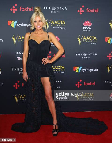 Sophie Monk poses during the 7th AACTA Awards at The Star on December 6 2017 in Sydney Australia