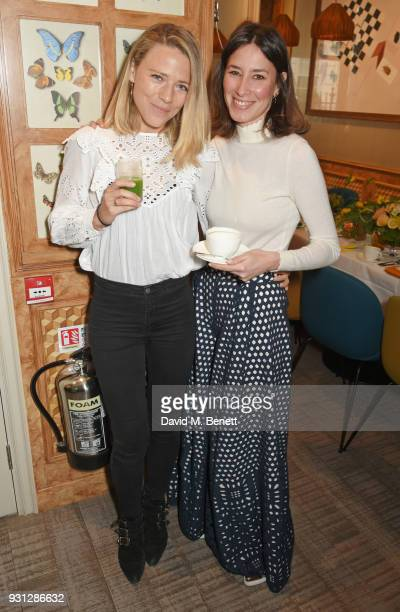 Sophie Moss and Tessa Packard attend the Espie Roche launch breakfast at The Chess Club on March 13 2018 in London England