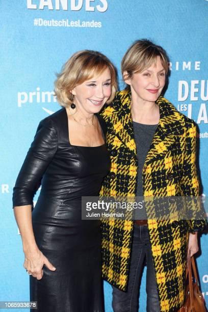 Sophie Mounicot and Marie Anne Chazel attend 'DeutschLes Landes' Paris Premiere at Cinema Gaumont Capucine on November 27 2018 in Paris France