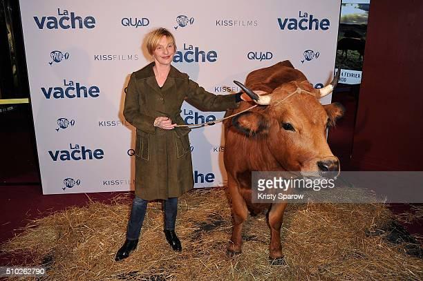 Sophie Mounicot attends the La Vache Paris Premiere at Pathe Wepler on February 14 2016 in Paris France