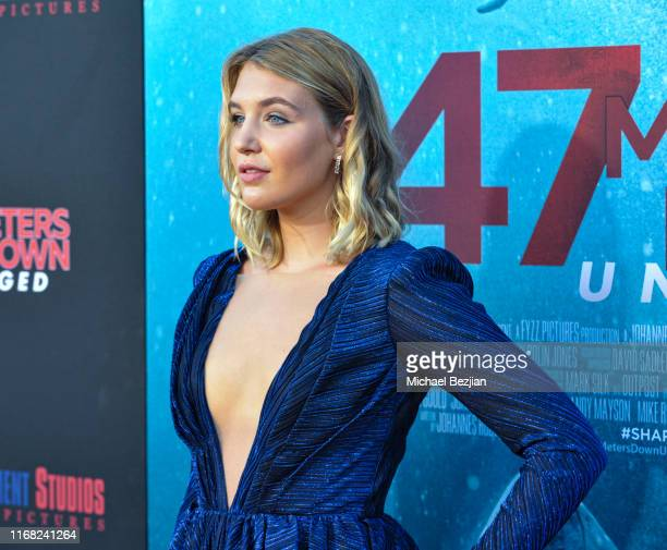 Sophie Nelisse attends the LA Premiere of 47 Meters Down UNCAGED on August 13 2019 in Los Angeles California