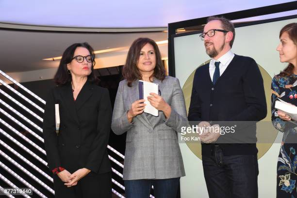 Sophie Obadia Viktor Lazlo and Stanislas Rigot attend the 'Le Prix Du Style 2017' Literary awards Hosted by BMW Obadia Stasi and Page des libraires...