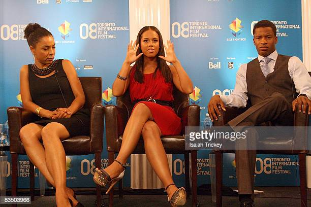 Sophie Okonedo Alicia Keys and Nate Parker attend the press conference for The Secret Life of Bees at the 2008 Toronto Film Festival September 6 2008...