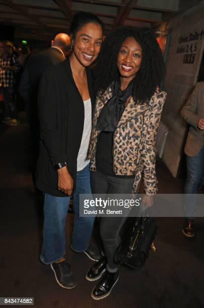 Sophie Okonedo and Beverley Knight attend the press night performance of 'Follies' at The National Theatre on September 6 2017 in London England