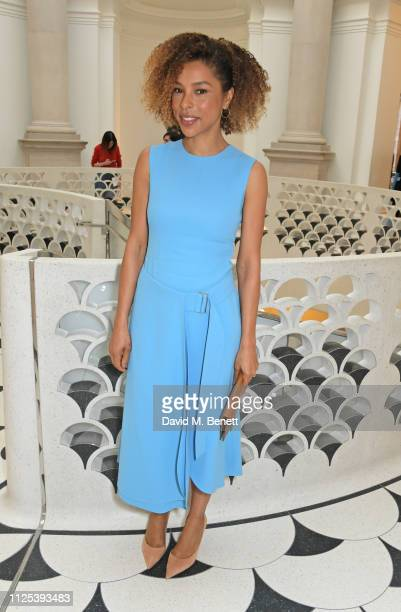 Sophie Okonedo attends the Victoria Beckham show during London Fashion Week February 2019 at Tate Britain on February 17 2019 in London England