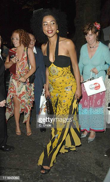Sophie Okonedo during 2005 Glamour Women of the Year Awards Departures at Berkeley Square in London Great Britain