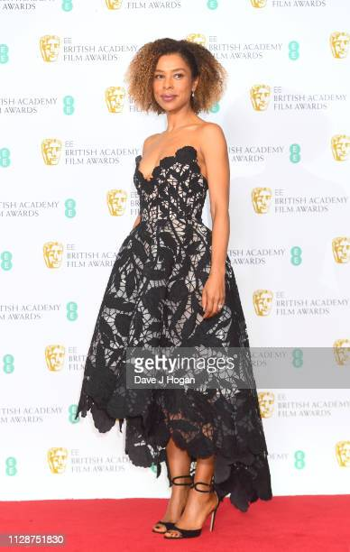 Sophie Okonedo in the press room during the EE British Academy Film Awards at Royal Albert Hall on February 10 2019 in London England