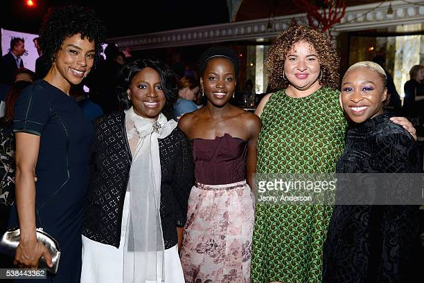 Sophie Okonedo LaTanya Richardson Lupita Nyong'o Liesl Tommy and Cynthia Erivo attend the Tony Honors Cocktail Party presenting the 2016 Tony Honors...