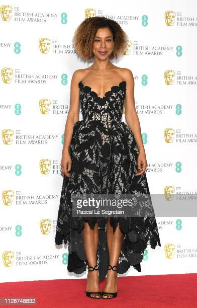 Sophie Okonedo poses in the press room during the EE British Academy Film Awards at Royal Albert Hall on February 10 2019 in London England