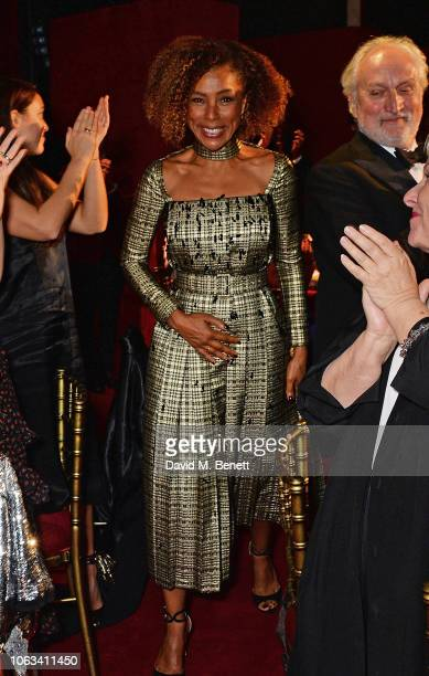 Sophie Okonedo winner of the Natasha Richardson Award for Best Actress in partnership with Christian Louboutin attends The 64th Evening Standard...