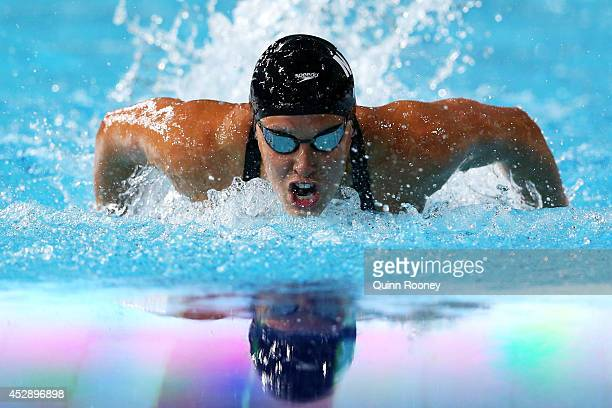 Sophie Pascoe of New Zealand competes on the way to winning the gold medal in the Women's 200m Individual Medley SM10 Final at Tollcross...