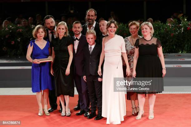 Sophie Pincemaille Denis Menochet Lea Drucker Xavier Legrand Thomas Gioria Mathilde Auneveux and guests walk the red carpet ahead of the 'Jusqu'a La...