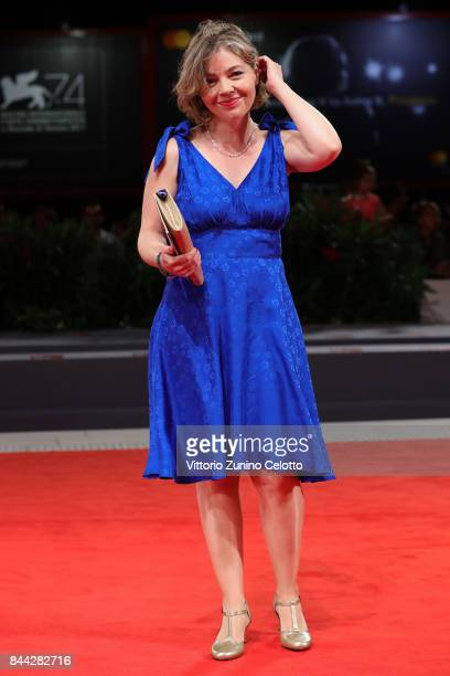 Sophie Pincemaille walks the red carpet ahead of the 'Jusqu'a La Garde' screening during the 74th Venice Film Festival at Sala Grande on September 8...