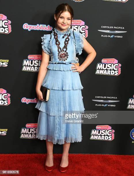 Sophie Pollono arrives at the 2018 Radio Disney Music Awards at Loews Hollywood Hotel on June 22 2018 in Hollywood California