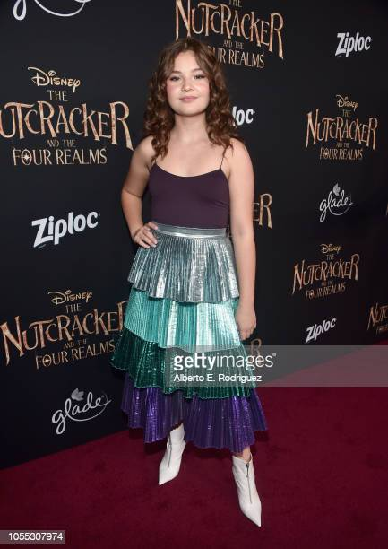 Sophie Pollono arrives at the world premiere of Disney's The Nutcracker and the Four Realms October 29th at Hollywood's El Capitan Theatre...