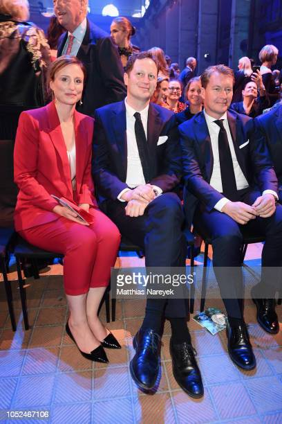 Sophie Princess of Prussia and Georg Friedrich Ferdinand Prince of Prussia attend the Tribute To Bambi show at Kraftwerk Mitte on October 18 2018 in...