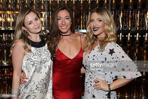 Sophie Pyle Sondra Hoffman and Heather Darazs at the grand reopening party of the iconic Watergate Hotel on June 14 2016 in Washington DC