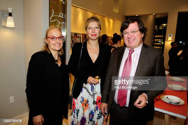 Sophie Raubiet AnneClaire Legendre and Michel Bernardaud attend Launch of 'Parler Seul' collection with Mr Michel Bernardaud and Mr Joan Punyet Miró...